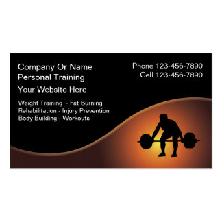 Personal Trainer Business Cards -New