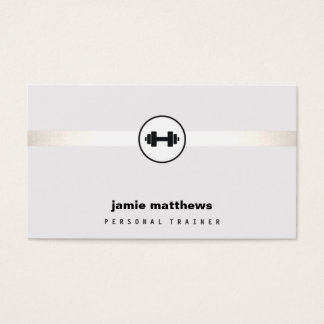 Personal Trainer Dumbbell Logo Fitness Instructor Business Card
