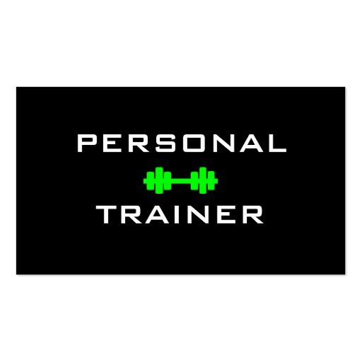 Personal Trainer Dumbell Business Card
