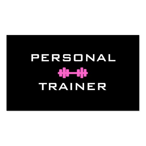 personal trainer gift certificate template - personal trainer dumbell business card zazzle
