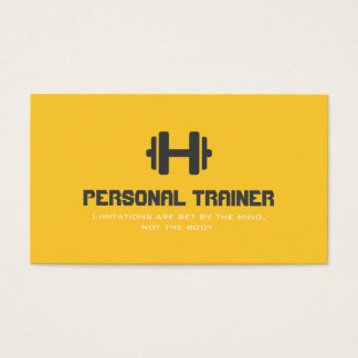 Personal Trainer Exercise Gym Fitness Business Business Card