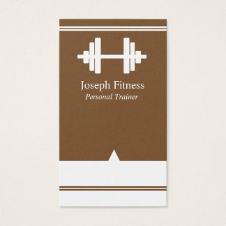 Personal Trainer Fitness Business Card Brown