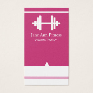 Personal Trainer Fitness Business Card Hot Pink