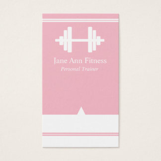 Personal Trainer Fitness Business Card Pink