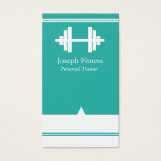Personal Trainer Fitness Business Card Teal White