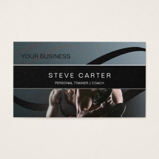 Personal Trainer Fitness Club Coach Business Card