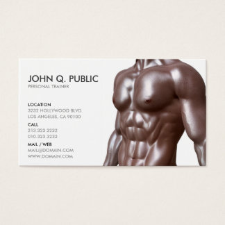 Personal Trainer Fitness Health Body Business Card