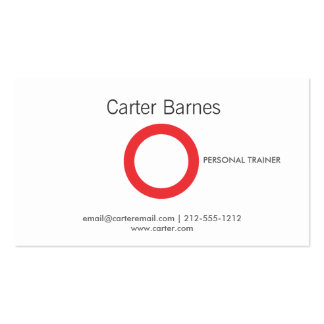 Personal Trainer, Fitness Instructor, Logo Business Card Templates