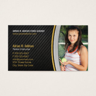 Personal Trainer Fitness Instructor Tennis Coach Business Card