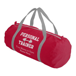 Personal Trainer Personalized Name Duffel Gym Bag
