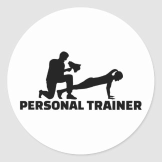 Personal trainer round sticker