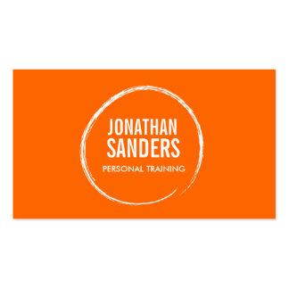 PERSONAL TRAINER SKETCH LOGO on Orange Pack Of Standard Business Cards