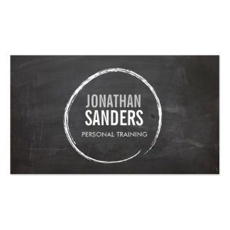 PERSONAL TRAINER SKETCH LOGO PACK OF STANDARD BUSINESS CARDS