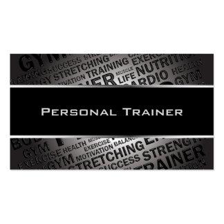 Personal Trainer Unique Business Card
