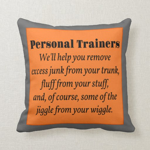 Personal Trainers Throw Pillows