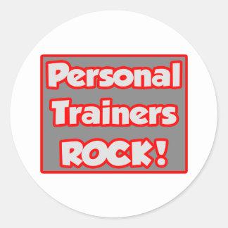 Personal Trainers Rock! Round Sticker