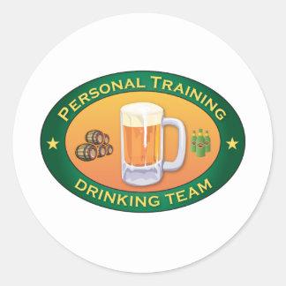 Personal Training Drinking Team Round Sticker