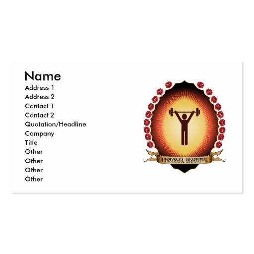 Personal Training Mandorla Business Cards