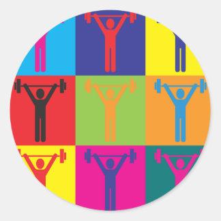 Personal Training Pop Art Round Sticker