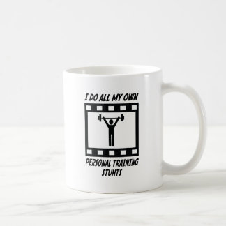 Personal Training Stunts Basic White Mug