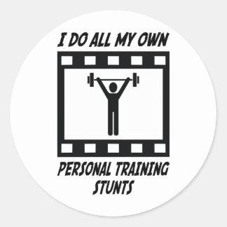 Personal Training Stunts Round Stickers