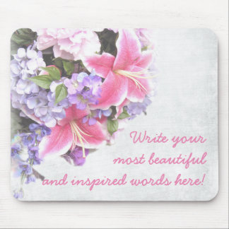 PERSONAL  WEDDING GIFT, TROPICAL FLOWER NEWLY WED MOUSE PAD