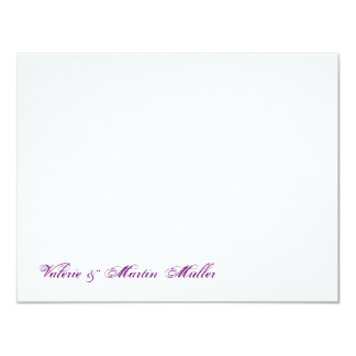 Personal writing paper or thank saying wedding 11 cm x 14 cm invitation card