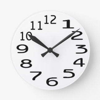 Personalisable Clock template with Numbers