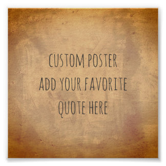 personalise a custom poster add your own quote