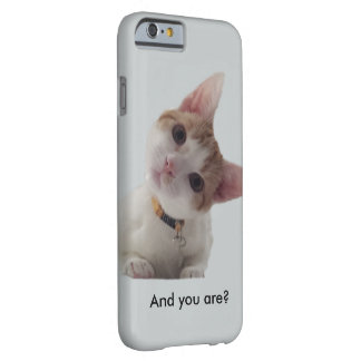 Personalise Curious Kitten on Your Smartphone Barely There iPhone 6 Case