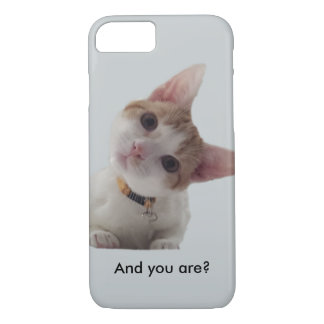 Personalise Curious Kitten on Your Smartphone iPhone 7 Case