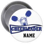 Personalise Cute Dark Blue Cheerleader Girl