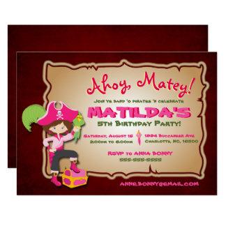 Personalise Cute Pirate Birthday Invitation