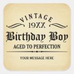 Personalise Funny Birthday Square Sticker