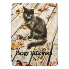 Personalise: Halloween Black Cat Photograph iPad Pro Cover