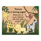 Personalise Happy Jungle Birthday Party Invitation