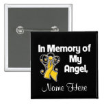 Personalise In Memory of My Angel Childhood Cancer Pins
