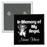 Personalise In Memory of My Angel Lung Cancer 15 Cm Square Badge