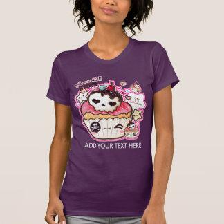 Personalise kawaii cute skull cupacke T-Shirt