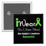Personalise Lime Green Non-Hodgkin's Lymphoma Pin