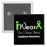 Personalise Lime Green Ribbon Lymphoma