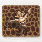 """Personalise me!"" Giraffe Mouse Pad"