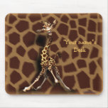 """Personalise me!"" Giraffe Mouse Pad"