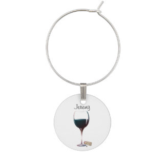 Personalise Red Wine Glass Wine Charm