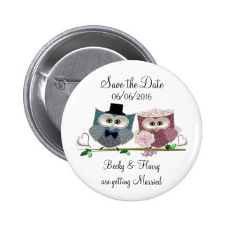 Personalise Save the Date Wedding Button