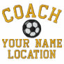 Personalise Soccer Coach Your Name Your Game! Jacket