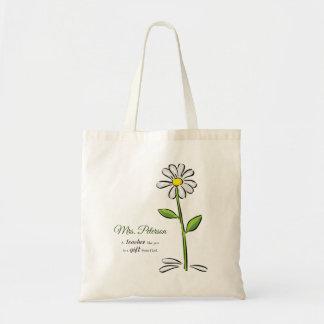 Personalise, Teacher Thank You, Religious Flower Tote Bag
