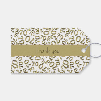 """Personalise:  """"Thank you"""" 70th Birthday Gift Tag"""