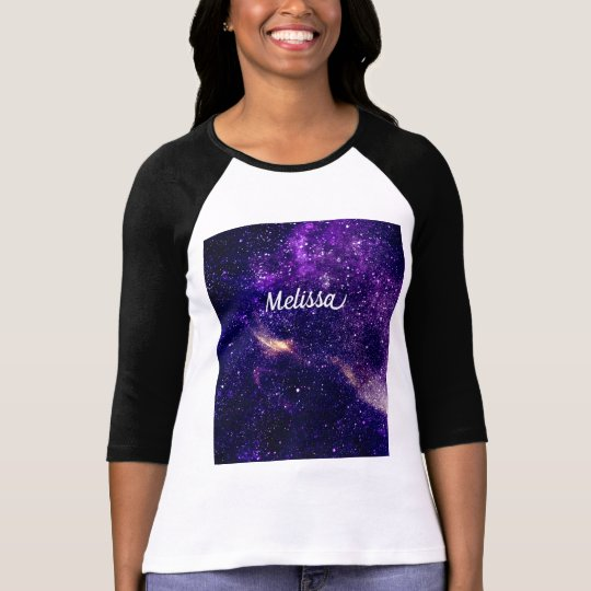 Personalise Ultra violet purple abstract galaxy T-Shirt
