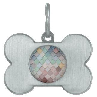 Personalise unique modern tile design photograph pet ID tags
